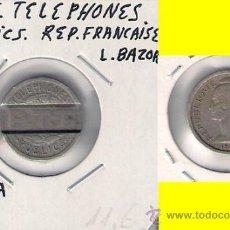 Monedas locales: C300-FICHA.TELEPHONES PUBLICS. REPUBLIQUE FRANCAISE.. Lote 28736023