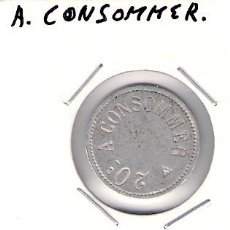 Monedas locales: C308-A. CONSOMMER. 20 CÉNTIMOS.. Lote 28736967
