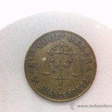 Monedas locales: 2 CÉNTIMOS.SOCIEDAD COOPERATIVA OBRERA SAN JUAN DE HORTA. . Lote 29164065