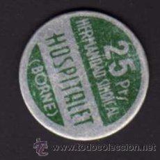 Monedas locales: FICHA 25 PESETAS - HERMANDAD SINDICAL HOSPITALET (BORNE). Lote 29273152