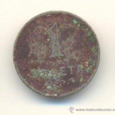 Monedas locales: RARA UNA PESETA COOPERATIVA LA CONSTANCIA CANET DE MAR BARCELONA. Lote 29386922