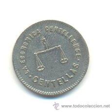 Monedas locales: COOPERATIVA LA ECONÓMICA CENTELLENSE. PESETA. CENTELLAS.. Lote 29912317