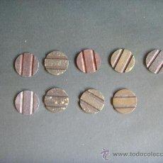 Monedas locales: LOTE NUEVE FICHAS ESPAÑOLAS PARA LLAMAR DESDE EL BAR. Lote 30178033
