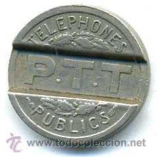 Monedas locales: FICHA ANTIGUA DE TELÉFONO FRANCES DE 1937. Lote 31001449