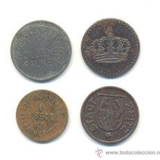 Monedas locales: LOTE DE CUATRO FICHAS DIVERSAS A CLASIFICAR. BONITAS. BUENA CONSERVACIÓN.. Lote 31011280