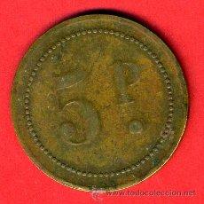 Monedas locales: FICHA , POSIBLEMENTE CASINO, VALOR 5 PESETAS , ORIGINAL , F15. Lote 31229099