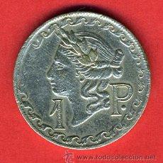 Monedas locales: FICHA DE CASINO , VALOR 1 PESETA , ORIGINAL , F21. Lote 52795180