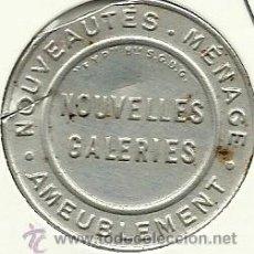 Monedas locales: (FCP-226)FICHA 5 CTS.NOUVELLES GALERIES(FRANCIA). Lote 31283666
