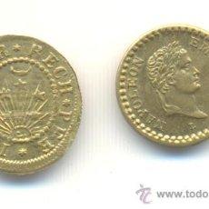 Monedas locales: DOS BONITAS FICHAS EN MINIATURA NAPOLEÓN BONAPARTE Y BARCO. . Lote 32931956