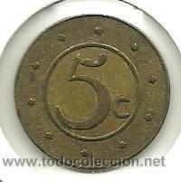 (FCP-235)FICHA 5 CTS.CAJA MUTUA POPULAR DE BARCELONA (Numismática - España Modernas y Contemporáneas - Locales y Fichas Dinerarias y Comerciales)