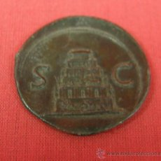 Monedas locales: FICHA TOKEN DE JUEGO DE ESTAÑO MARCA S C SENATUS CONSULTO REVERSO SENTENCIA ROMANA S XVIII. Lote 33417438