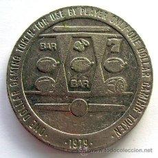 Monedas locales: FICHA-TOKEN 1 DOLLAR . CASINO DE JUEGO LAS VEGAS . NEVADA . TAMAÑO 37 MM.. Lote 33729523
