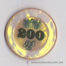 Monedas locales: FICHA CASINO DE BARCELONA VALOR 200 AMARILLA. Lote 34445790