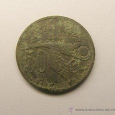 Monedas locales: MONEDA FICHA LA HISPANO - SUIZA. BARCELONA. 50 CTS.. Lote 34510328