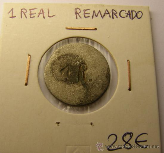 Monedas locales: Moneda 1 real ¿Fernando VII?, Madrid. - Foto 2 - 34516821