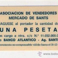 Monedas locales: C257-ASOCIACION DE VENDEDORES. MERCADO DE SANTS. PESETA.1979.. Lote 34633732