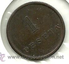 (FCP-237)FICHA 1 PTS.LA FARGA (Numismática - España Modernas y Contemporáneas - Locales y Fichas Dinerarias y Comerciales)