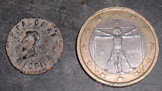 Monedas locales: Ficha de 50 ctmos Madrid. - Foto 2 - 34710256