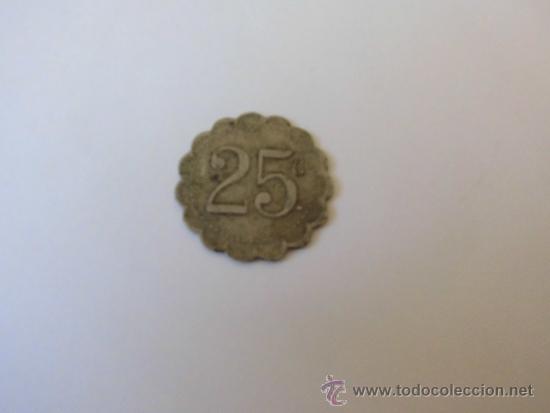 25C JETON FICHA LO DESCONOZCO (Numismática - España Modernas y Contemporáneas - Locales y Fichas Dinerarias y Comerciales)