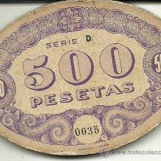 Monedas locales: (FC-86)FICHA DE 500 PTS.CASINO KURSAAL SAN SEBASTIAN. Lote 35170266