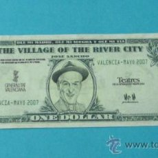 Monnaies locales: ONE DOLAR. THE VILLAGE OF THE RIVER CITY. COMEDIA MUSICAL BIENVENIDO MR. MARSHALL. Lote 35523432