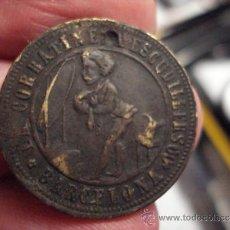 Monedas locales: BERCELONA RARA FICHA TOKEN LA CORBATINE C./ESCIDILLERS - 1/2 REAL CORBATAS AÑOS 1850/80. Lote 35691065
