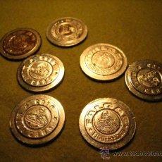 Monedas locales: LOTE 7 UNIDADES...FICHA O MONEDA COIN MINI CARS FALGAS FIGUERES GERONA. Lote 35718702