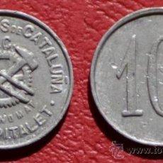 Monedas locales: FICHA ALTOS HORNOS DE CATALUÑA - ECONOMAT - 10 CÉNTIMOS - L'HOSPITALET DE LLOBREGAT. Lote 76836583