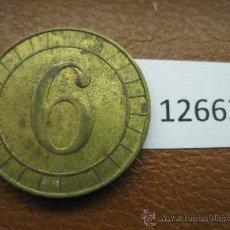 Monedas locales: FICHA INGLATERRA RW 6 PENIQUES, TOKEN, JETON. Lote 36080445