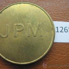 Monedas locales: FICHA INGLATERRA JPM , 10 PENIQUES, TOKEN, JETON. Lote 36080474