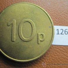 Monedas locales: FICHA INGLATERRA JPM , 10 PENIQUES, TOKEN, JETON. Lote 36080482