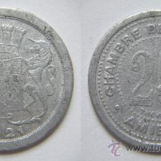 Monedas locales: FRANCIA . MONEDA DE NECESIDAD . 25 CENTS. AMIENS . 1921. Lote 36166099