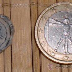 Monedas locales: MARCHAMO PLOMO DE MADRID DE CORREOS 1863. Lote 36590494
