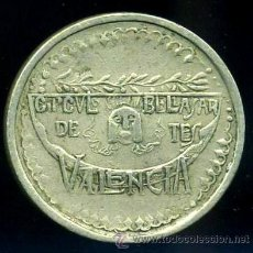 Monedas locales: CIRCULO DE BELLAS ARTES - VALENCIA - FICHA DE 1 PTA. Lote 36592445