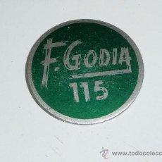 Monedas locales: FICHA O MONEDA A IDENTIFICAR, DESCONOZCO DEL TEMA. Lote 36990118