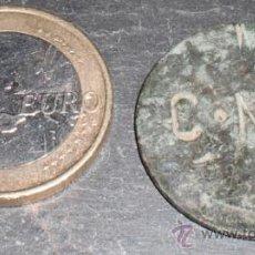 Monedas locales: MONEDA CONTRAMARCADA CNT ORIGINAL. Lote 37523637
