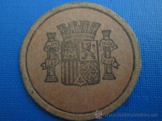 Monedas locales: carton moneda 15 centimos republica española, timbre movil - Foto 2 - 37573877