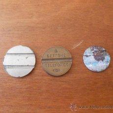Monedas locales: LOTE DE TRES FICHAS DE TELÉFONO, UNA DE ELLA ITALIANA, PONE: GETTONE TELEFONICO. Lote 37696936