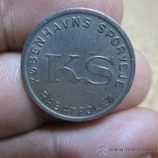 Monedas locales: FICHA COMERCIAL DE DINAMARCA CON SIRENITA DE COPENAGUE. Lote 37795588