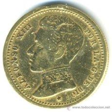 Monedas locales: MEDALLA ALFONSO XIII, LA MISMA FIGURA POR AMBOS LADOS. Lote 38040082