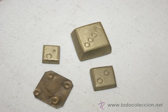 LOTE DE 4 MONEDAS ? O MEDIDAS ? EN BRONCE, ANTIGUAS (Numismática - España Modernas y Contemporáneas - Locales y Fichas Dinerarias y Comerciales)