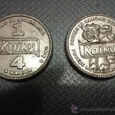 Monedas locales: PREMIUN FICHA O MONEDA LECHE KAIKU. Lote 71777182