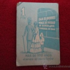 Monedas locales: VALE DE UNA PESETA CAJA DE AHORROS MONTE DE PIEDAD DE BARCELONA. Lote 39037219