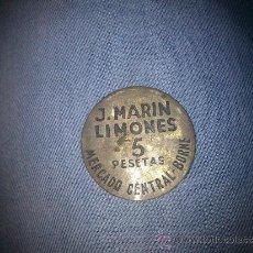 Monedas locales: MONEDA DE PESETAS DEL MERCADO DEL BORNE EN BARCELONA. Lote 39077578