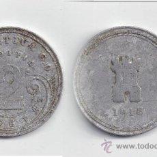 Monedas locales: FICHA: AZCOITIA 2 PESETAS 1915 GUIPUZCOA - PAIS VASCO. Lote 39208469