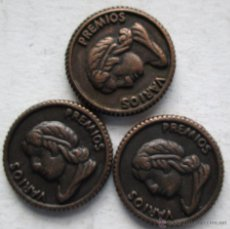 Monedas locales: 3 PARA JUGAR A LOS CHINOS. Lote 39417553
