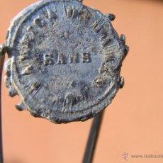 Monedas locales: PRECINTO DE PLOMO . S XIX . BARCELONA -SANTS. Lote 39587314