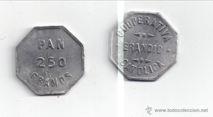 FICHA: ERANDIO 250 GR PAN - BILBAO - VIZCAYA (5) (Numismática - España Modernas y Contemporáneas - Locales y Fichas Dinerarias y Comerciales)