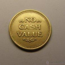 Monedas locales: FICHA TOKEN. NO CASH VALUE.. Lote 39703541