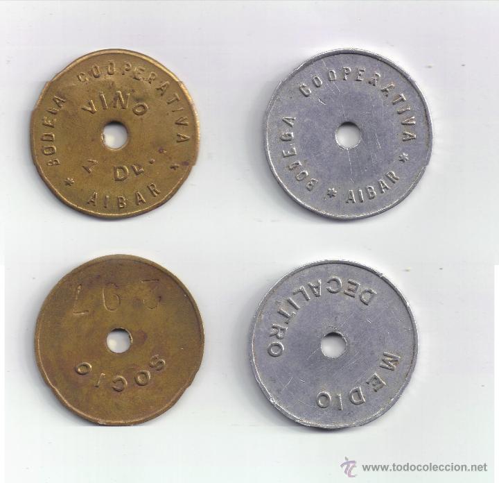 FICHA: 1 DL Y 1/2 DL AIBAR NAVARRA (Numismática - España Modernas y Contemporáneas - Locales y Fichas Dinerarias y Comerciales)